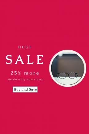 Portrait design template for sales - #banner #businnes #sales #CallToAction #salesbanner #up #style #glass #len #close #optical #depth