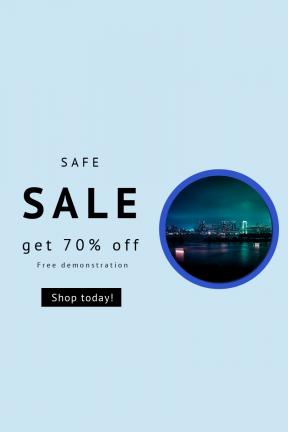 Portrait design template for sales - #banner #businnes #sales #CallToAction #salesbanner #technology #cityscape #bridge #scape #night #waterfront #building