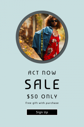 Portrait design template for sales - #banner #businnes #sales #CallToAction #salesbanner #outdoor #female #and #season #computer #square #jacket #stylish #black