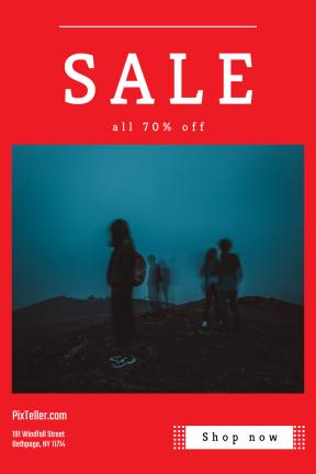 Portrait design template for sales - #banner #businnes #sales #CallToAction #salesbanner #dawn #squares #outdoor #dark #shapes #person