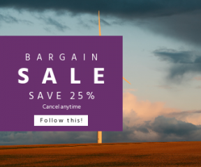 Square large web banner template for sales - #banner #businnes #sales #CallToAction #salesbanner #renewable #cloud #eco #electricity #source #future #sun #modern #economy