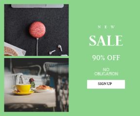 Square large web banner template for sales - #banner #businnes #sales #CallToAction #salesbanner #speaker #google #meal #innovation #charge