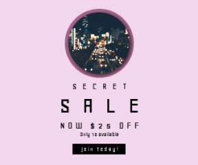 Square large web banner template for sales - #banner #businnes #sales #CallToAction #salesbanner #blur #city #traffic #circular #shapes #cityscape