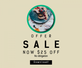 Square large web banner template for sales - #banner #businnes #sales #CallToAction #salesbanner #berry #adding #orange #food #dessert #circle #toast #french #button