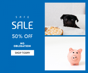 Square large web banner template for sales - #banner #businnes #sales #CallToAction #salesbanner #handmade #savings #pie #bank #table #piggy #black #copyspace #white #piggybank