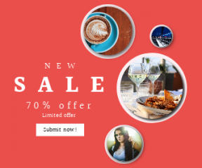 Square large web banner template for sales - #banner #businnes #sales #CallToAction #salesbanner #milk #train #white #woman #love #resort #style #top