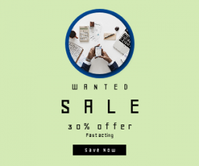 Square large web banner template for sales - #banner #businnes #sales #CallToAction #salesbanner #office #circular #mug #flay #circles #technology #newspaper #object #computer