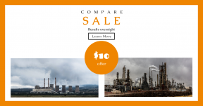 Card design template for sales - #banner #businnes #sales #CallToAction #salesbanner #industrial #smoke #plant #foggy #change #gas #climate #electricity #steam