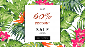 FullHD image template for sales - #banner #businnes #sales #CallToAction #salesbanner #shrub #pattern #plant #evergreen #leaf #flowering #tree #annual