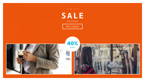 FullHD image template for sales - #banner #businnes #sales #CallToAction #salesbanner #fashion #coffee #shopping #store #window