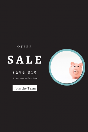 Portrait design template for sales - #banner #businnes #sales #CallToAction #salesbanner #saving #handmade #craft #bank #pink #pig #card