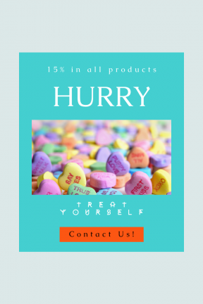 Portrait design template for sales - #banner #businnes #sales #CallToAction #salesbanner #heart #sugar #confectionery #candy #love #valentine #day