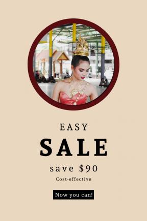 Portrait design template for sales - #banner #businnes #sales #CallToAction #salesbanner #asian #woman #jewellery #crown #female #portrait #dress #structure #model #building