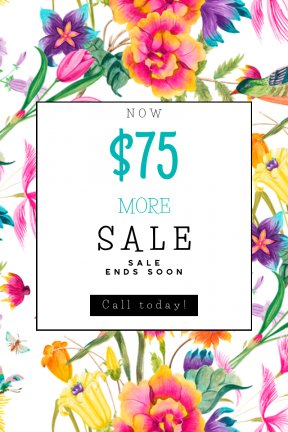 Portrait design template for sales - #banner #businnes #sales #CallToAction #salesbanner #floristry #plant #flower #design #flora #flowers
