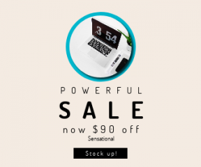 Square large web banner template for sales - #banner #businnes #sales #CallToAction #salesbanner #laptop #shapes #essentials #geometric #office #electronic