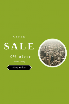 Portrait design template for sales - #banner #businnes #sales #CallToAction #salesbanner #sprawl #construction #of #city #office #labyrinth #mid-century #haze #grid #building