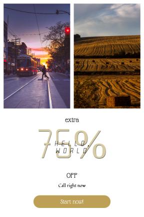 Portrait design template for sales - #banner #businnes #sales #CallToAction #salesbanner #yellow #autumn #sunset #evening #pedestrian