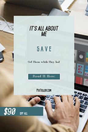 Portrait design template for sales - #banner #businnes #sales #CallToAction #salesbanner #partnership #buttons #coworker #digital #work #design #media #technology #shape #meeting