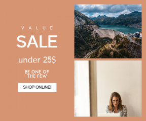 Square large web banner template for sales - #banner #businnes #sales #CallToAction #salesbanner #woman #drone #work #dam #water #cloud #wide #mountains #from