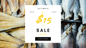 FullHD image template for sales - #banner #businnes #sales #CallToAction #salesbanner #down #sell #whole #dead #market #selling #fish #sale #nutrition #supermarket