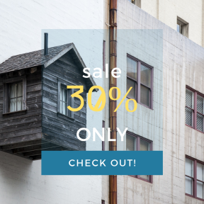 Image design template for sales - #banner #businnes #sales #CallToAction #salesbanner #shed #bland #house #loghouse #design #apartment #exterior #bird #francisco #san