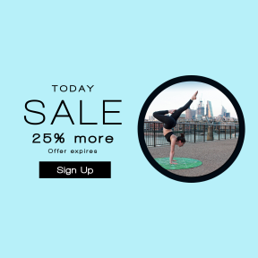 Image design template for sales - #banner #businnes #sales #CallToAction #salesbanner #model #stretch #pose #yogi #handstand #yoga #exercise #sport #kingdom #woman