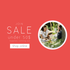Image design template for sales - #banner #businnes #sales #CallToAction #salesbanner #woman #business #networking #cafe #plant #laptop #green #computer #coffee #sunlight