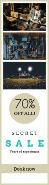 Skyscraper wide web banner template for sales - #banner #businnes #sales #CallToAction #salesbanner #flatlay #grass #baseball #shapes #sports