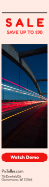 Skyscraper wide web banner template for sales - #banner #businnes #sales #CallToAction #salesbanner #road #movement #shapes #clouds #lights #highway #ribbon #stockholm #bracket