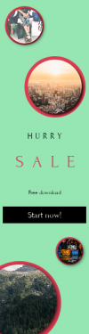 Skyscraper wide web banner template for sales - #banner #businnes #sales #CallToAction #salesbanner #smiling #casual #caucasian #screen #adult #house #shopping #westerner #kitchen