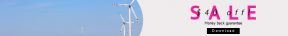 Leaderboard web banner template for sales - #banner #businnes #sales #CallToAction #salesbanner #field #sky #green #tech #technology #energy #blue #wind #electricity