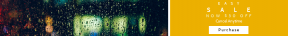 Leaderboard web banner template for sales - #banner #businnes #sales #CallToAction #salesbanner #green #city #window #bokeh #light #drop #yellow #car #rain