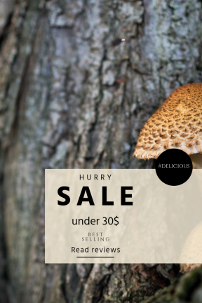 Portrait design template for sales - #banner #businnes #sales #CallToAction #salesbanner #nature #trunk #funghi #toadstool #close-up #of
