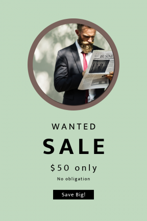 Portrait design template for sales - #banner #businnes #sales #CallToAction #salesbanner #shapes #suit #essentials #portrait #beard #business #shape #reading #financial