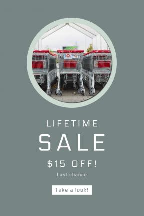 Portrait design template for sales - #banner #businnes #sales #CallToAction #salesbanner #cart #equipment #trolley #supermarket #shopping