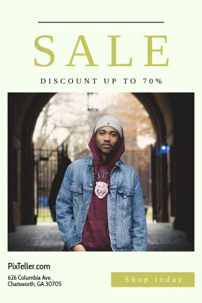 Portrait design template for sales - #banner #businnes #sales #CallToAction #salesbanner #squares #denim #jeans #essentials #winter #shape #blog