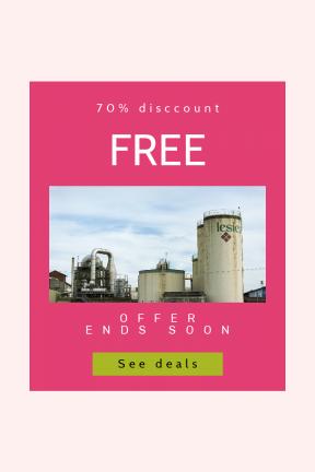 Portrait design template for sales - #banner #businnes #sales #CallToAction #salesbanner #rusted #stop #building #silo #black #silos #web #squares #shape
