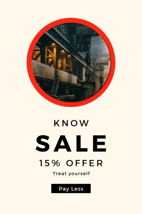 Portrait design template for sales - #banner #businnes #sales #CallToAction #salesbanner #plant #production #drum #iron #black #circle #circular #shape #view