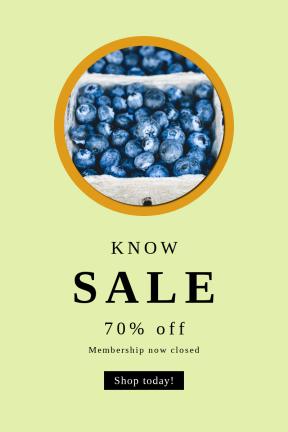 Portrait design template for sales - #banner #businnes #sales #CallToAction #salesbanner #sale #produce #plant #button #fruit #shapes
