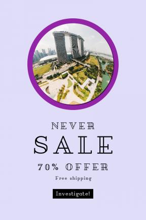 Portrait design template for sales - #banner #businnes #sales #CallToAction #salesbanner #shape #geometric #city #essentials #aerial #circle #building #eye #hotel