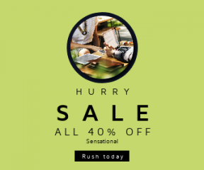 Square large web banner template for sales - #banner #businnes #sales #CallToAction #salesbanner #jewellery #cafe #woman #meeting #rounded #sunglasses