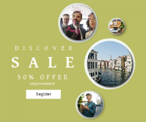 Square large web banner template for sales - #banner #businnes #sales #CallToAction #salesbanner #explore #female #computer #holiday #colour #business #chair #venice #chart #laptop