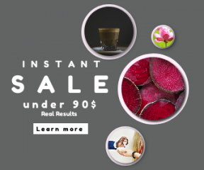 Square large web banner template for sales - #banner #businnes #sales #CallToAction #salesbanner #flower #drink #tasty #floral #nature #blooming #cincinnati #american #wallpapers