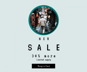 Square large web banner template for sales - #banner #businnes #sales #CallToAction #salesbanner #symbol #city #shopping #shapes #narrow #street #alley #tokyo's