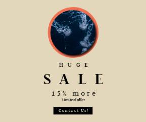 Square large web banner template for sales - #banner #businnes #sales #CallToAction #salesbanner #depth #valencium #glow #ocean #water #tentacle #sea #underwater