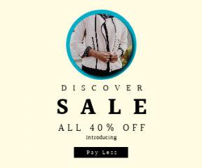 Square large web banner template for sales - #banner #businnes #sales #CallToAction #salesbanner #girl #professional #editorial #fashion #businesswoman #black #jacket #lady #style