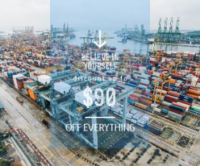 Square large web banner template for sales - #banner #businnes #sales #CallToAction #salesbanner #direction #transport #from #port #industrial #shipping #view