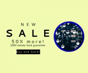 Square large web banner template for sales - #banner #businnes #sales #CallToAction #salesbanner #black #hanging #science #drop #bauble #technology #blur