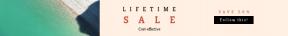 Leaderboard web banner template for sales - #banner #businnes #sales #CallToAction #salesbanner #shore #shadow #nature #green #diagonal #recruitment #bank