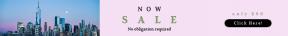 Leaderboard web banner template for sales - #banner #businnes #sales #CallToAction #salesbanner #rectangles #scalloped #wavy #ribbon #wtc #york #bg